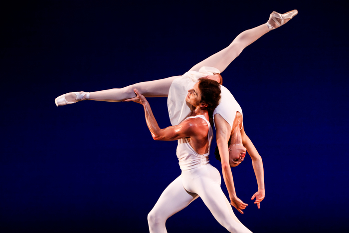 "Lilyan Vigo Ellis and Timour Bourtasenkov in George Balanchine's ""Apollo."" Photo by © Tim Lytvinenko."