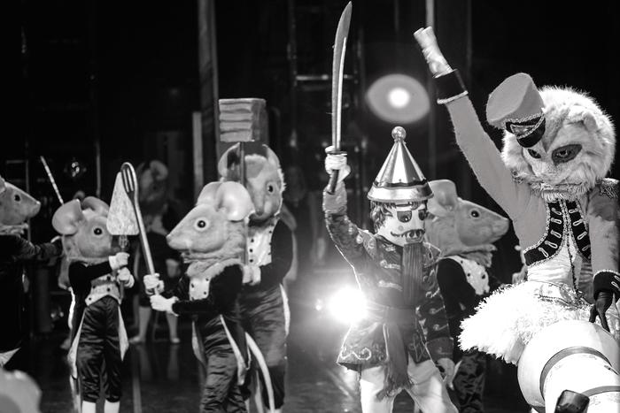 "The Battle Scene in Robert Weiss' ""The Nutcracker."" Photo by © Tim Lytvinenko."