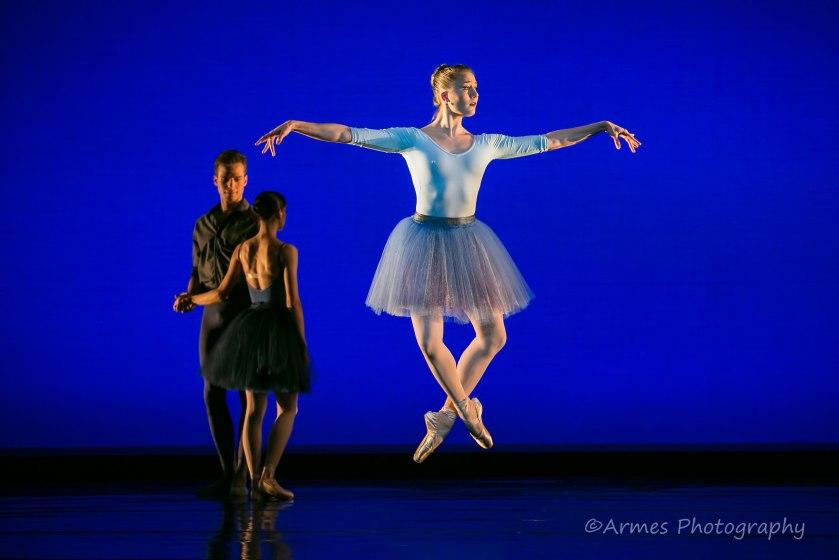 "Cecilia Iliesiu in Zalman Raffael's ""Rhapsody in Blue."" © Nigel Armes."