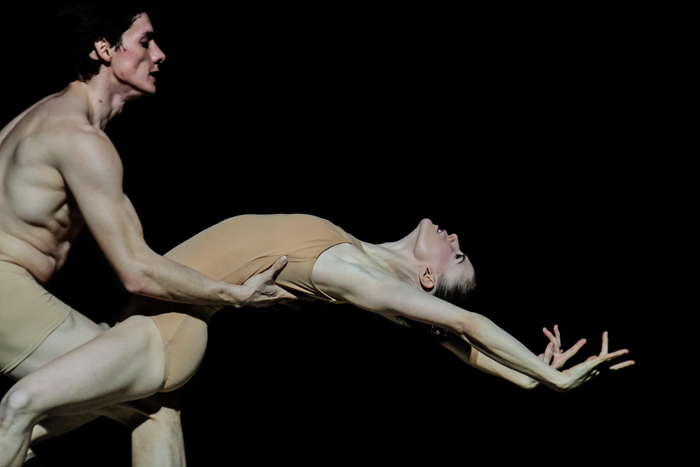 "Marcelo Martinez and Lara O'Brien in Christopher Stowell's ""Rite of Spring."" Photo by © Tim Lytvinenko, 2013."