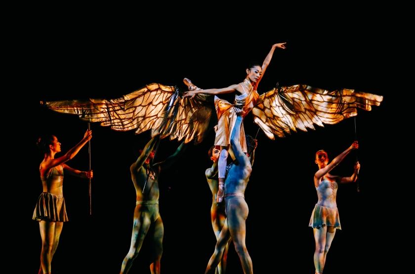 "Margaret Severin-Hansen as the Angel in Weiss' ""Messiah."" Photo by Tim Lytvinenko, 2014."