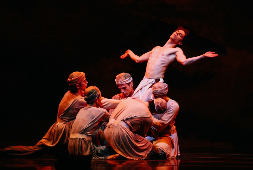"Gabor Kapin in Weiss' ""Messiah."" Photo by Tim Lytvinenko, 2014."