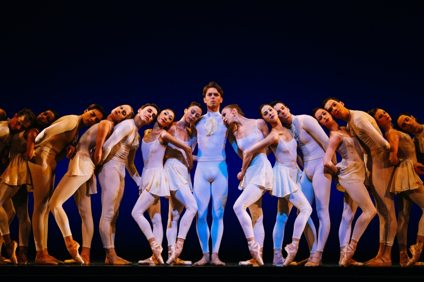 "Gabor Kapin as Messiah with the Company Congregation in Weiss' ""Messiah."" Photo by Tim Lytvinenko, 2014."