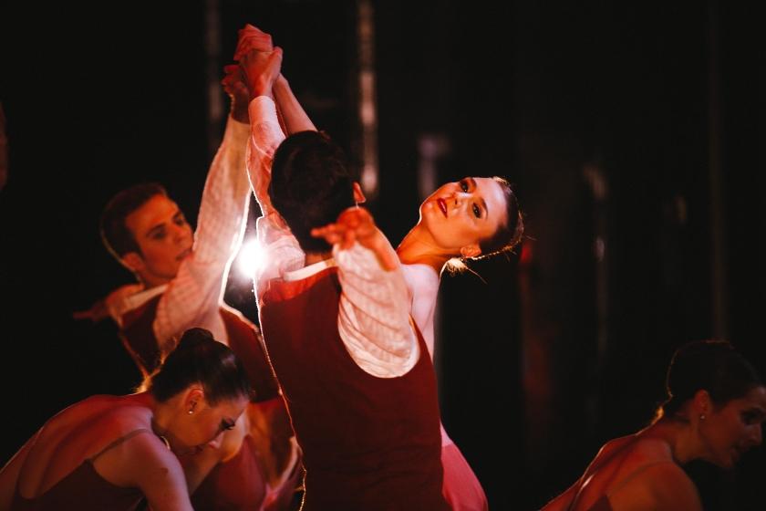 """Cecilia Iliesiu in Zalman Raffael's """"Rachmaninoff's Piano Concert No. 2."""" Photo by Tim Lytvinenko, 2014."""