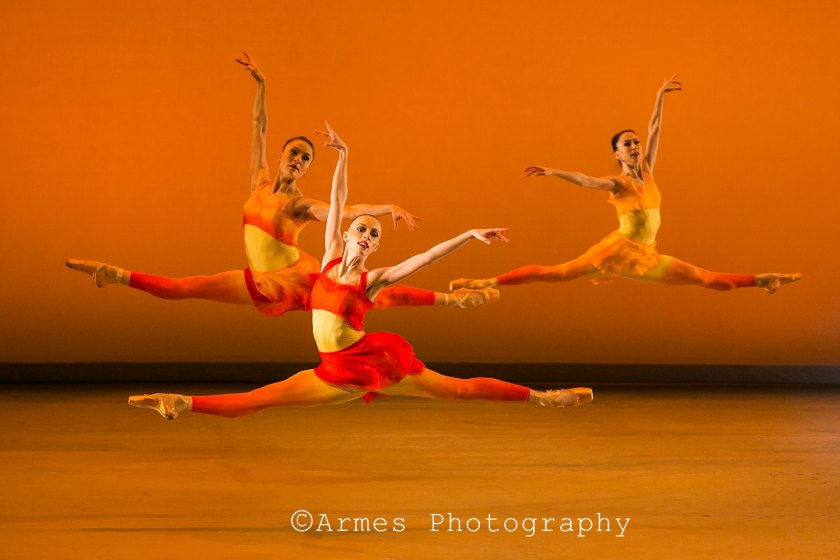 "SUMMER with Cecilia Iliesiu, Ashley Hathaway and Lindsay Purrington. Weiss' premiere of ""Vivaldi's Four Seasons."" Photo by Armes Photography, 2014."