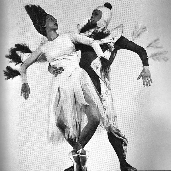 Eise Reiman and Herbert Bliss in the Seligmann costumes