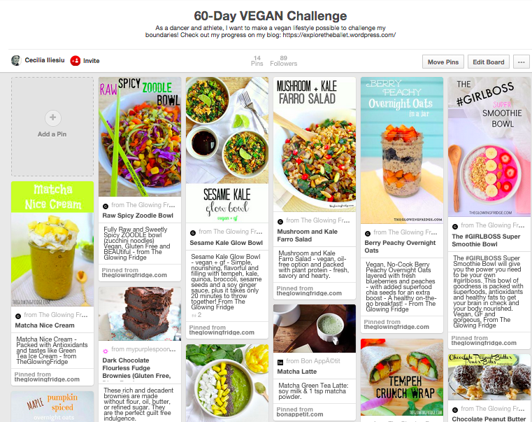 Cecilia's {60 Day Vegan Challenge} Pinterest Board