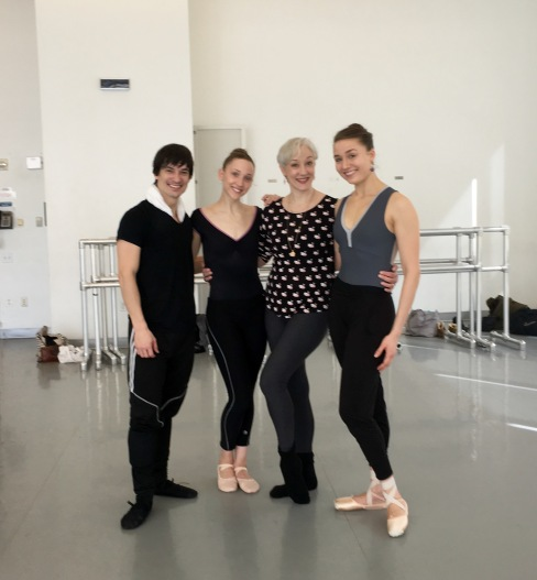 James Moore, Elizabeth Murphy, Deborah Wingert and Cecilia Iliesiu at Alvin Ailey Studios.