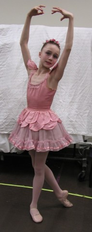"Cecilia Iliesiu as an SAB Student in George Balanchine's ""Coppelia"" Waltz of the Hours in 2003."