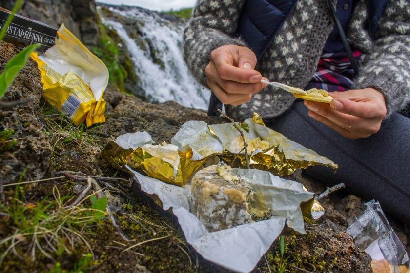 6.19.2016 Picnic at Bruarfoss Waterfall